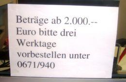 "Sparkasse: ""ambulante Kunden-Pflege"" mit Humor"